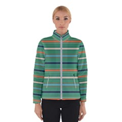 Horizontal Line Green Red Orange Winterwear