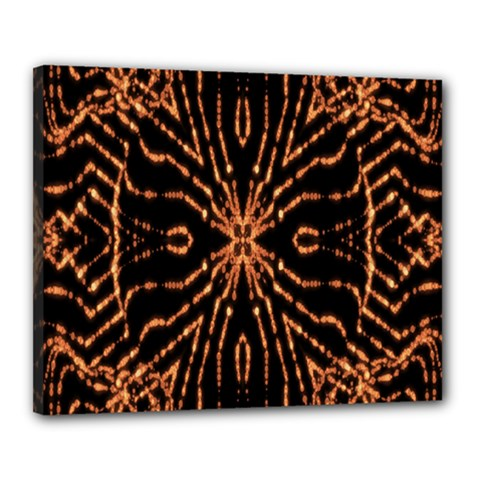 Golden Fire Pattern Polygon Space Canvas 20  X 16