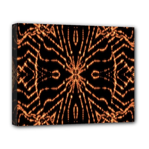 Golden Fire Pattern Polygon Space Deluxe Canvas 20  X 16