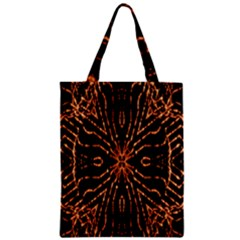 Golden Fire Pattern Polygon Space Classic Tote Bag