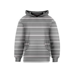 Horizontal Line Grey Pink Kids  Pullover Hoodie