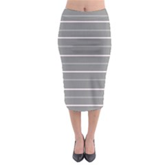 Horizontal Line Grey Pink Midi Pencil Skirt