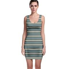 Horizontal Line Grey Blue Bodycon Dress