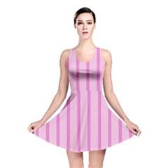 Line Pink Vertical Reversible Skater Dress