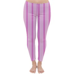 Line Pink Vertical Classic Winter Leggings