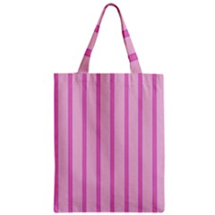 Line Pink Vertical Zipper Classic Tote Bag