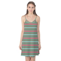 Horizontal Line Red Green Camis Nightgown