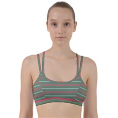 Horizontal Line Red Green Line Them Up Sports Bra