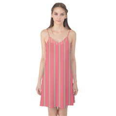 Line Red Grey Vertical Camis Nightgown