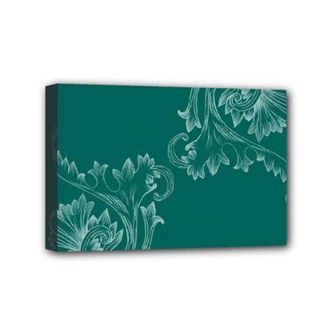 Leaf Green Blue Sexy Mini Canvas 6  X 4