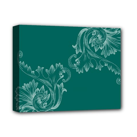 Leaf Green Blue Sexy Deluxe Canvas 14  X 11