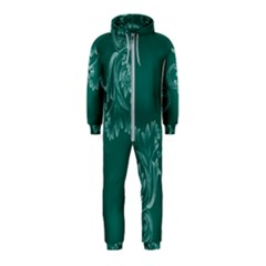 Leaf Green Blue Sexy Hooded Jumpsuit (kids)
