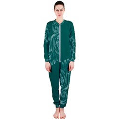 Leaf Green Blue Sexy Onepiece Jumpsuit (ladies)