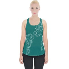 Leaf Green Blue Sexy Piece Up Tank Top
