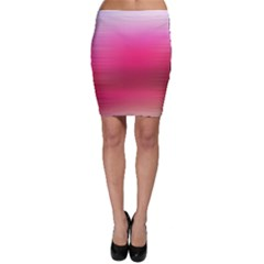 Line Pink Space Sexy Rainbow Bodycon Skirt