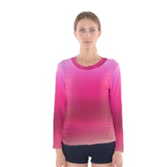 Line Pink Space Sexy Rainbow Women s Long Sleeve Tee