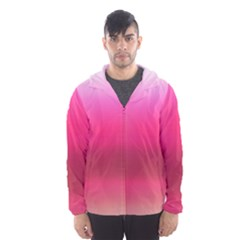 Line Pink Space Sexy Rainbow Hooded Wind Breaker (men)