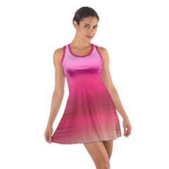 Line Pink Space Sexy Rainbow Cotton Racerback Dress