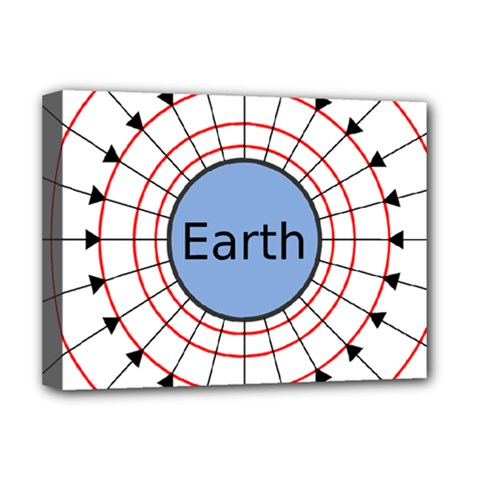 Magnetik Earth s Gravitational Line Triangle Deluxe Canvas 16  X 12
