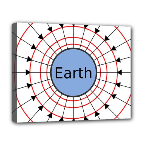 Magnetik Earth s Gravitational Line Triangle Deluxe Canvas 20  X 16