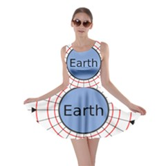 Magnetik Earth s Gravitational Line Triangle Skater Dress
