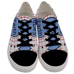 Magnetik Earth s Gravitational Line Triangle Men s Low Top Canvas Sneakers