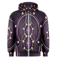 Mandalarium Hires Hand Eye Purple Men s Zipper Hoodie