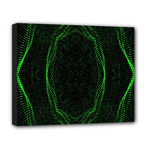 Green Foam Waves Polygon Animation Kaleida Motion Deluxe Canvas 20  X 16