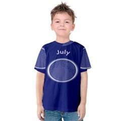 Moon July Blue Space Kids  Cotton Tee