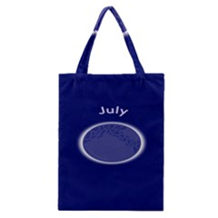 Moon July Blue Space Classic Tote Bag