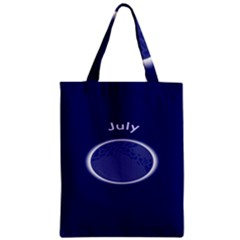 Moon July Blue Space Zipper Classic Tote Bag