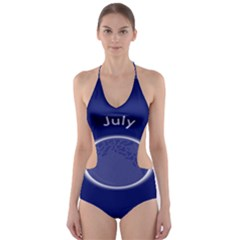 Moon July Blue Space Cut Out One Piece Swimsuit