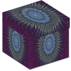 Peaceful Flower Formation Sparkling Space Storage Stool 12