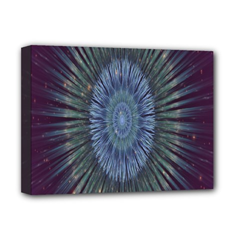 Peaceful Flower Formation Sparkling Space Deluxe Canvas 16  X 12
