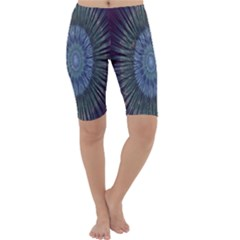 Peaceful Flower Formation Sparkling Space Cropped Leggings