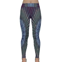 Peaceful Flower Formation Sparkling Space Classic Yoga Leggings