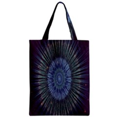 Peaceful Flower Formation Sparkling Space Zipper Classic Tote Bag