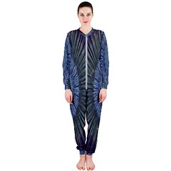Peaceful Flower Formation Sparkling Space Onepiece Jumpsuit (ladies)