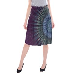 Peaceful Flower Formation Sparkling Space Midi Beach Skirt
