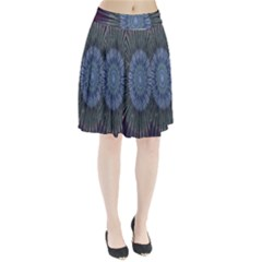 Peaceful Flower Formation Sparkling Space Pleated Skirt