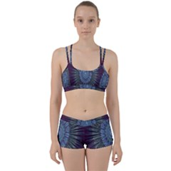 Peaceful Flower Formation Sparkling Space Women s Sports Set
