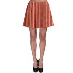 Line Vertical Orange Skater Skirt