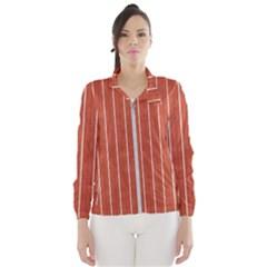 Line Vertical Orange Wind Breaker (women)