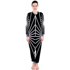 Ray White Black Line Space Onepiece Jumpsuit (ladies)