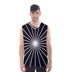 Ray White Black Line Space Men s Basketball Tank Top