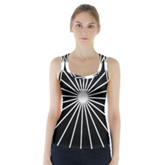 Ray White Black Line Space Racer Back Sports Top