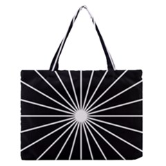 Ray White Black Line Space Zipper Medium Tote Bag