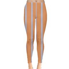 Rayures Bleu Orange Leggings