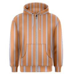 Rayures Bleu Orange Men s Zipper Hoodie