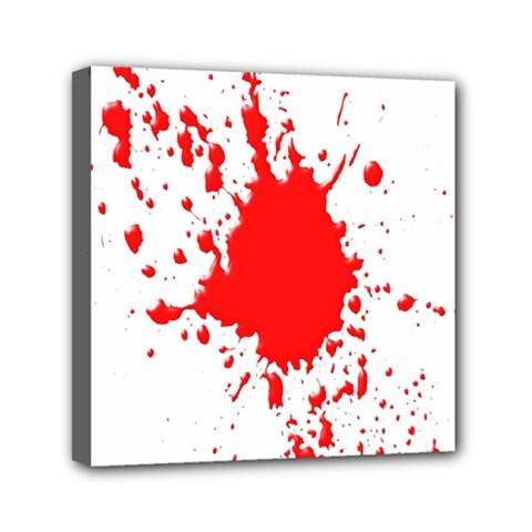 Red Blood Splatter Mini Canvas 6  X 6